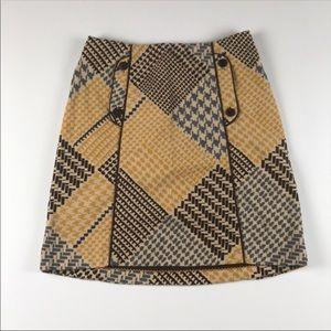 Maeve vintage inspired houndstooth skirt sz 12
